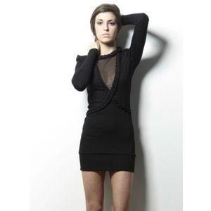 For Love & Lemons Black Long Sleeve Mini Dress
